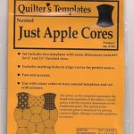 Quilters Templates, Apple Core (Eplekjerne-mal)