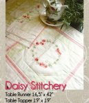 Daisy Stitchery for Table Runner and Topper, Pattern
